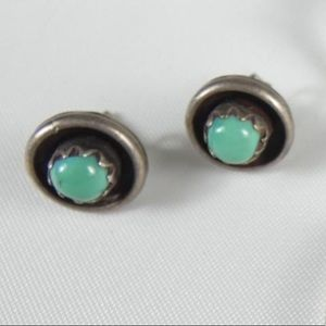 STERLING SILVER 925 vintage earrings with stone